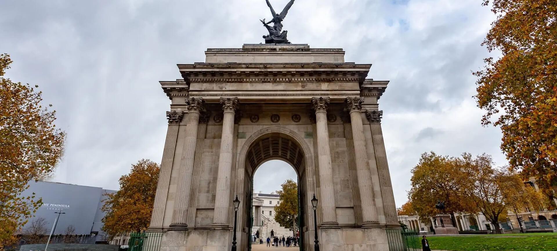 Wellington Arch in Mayfair, London