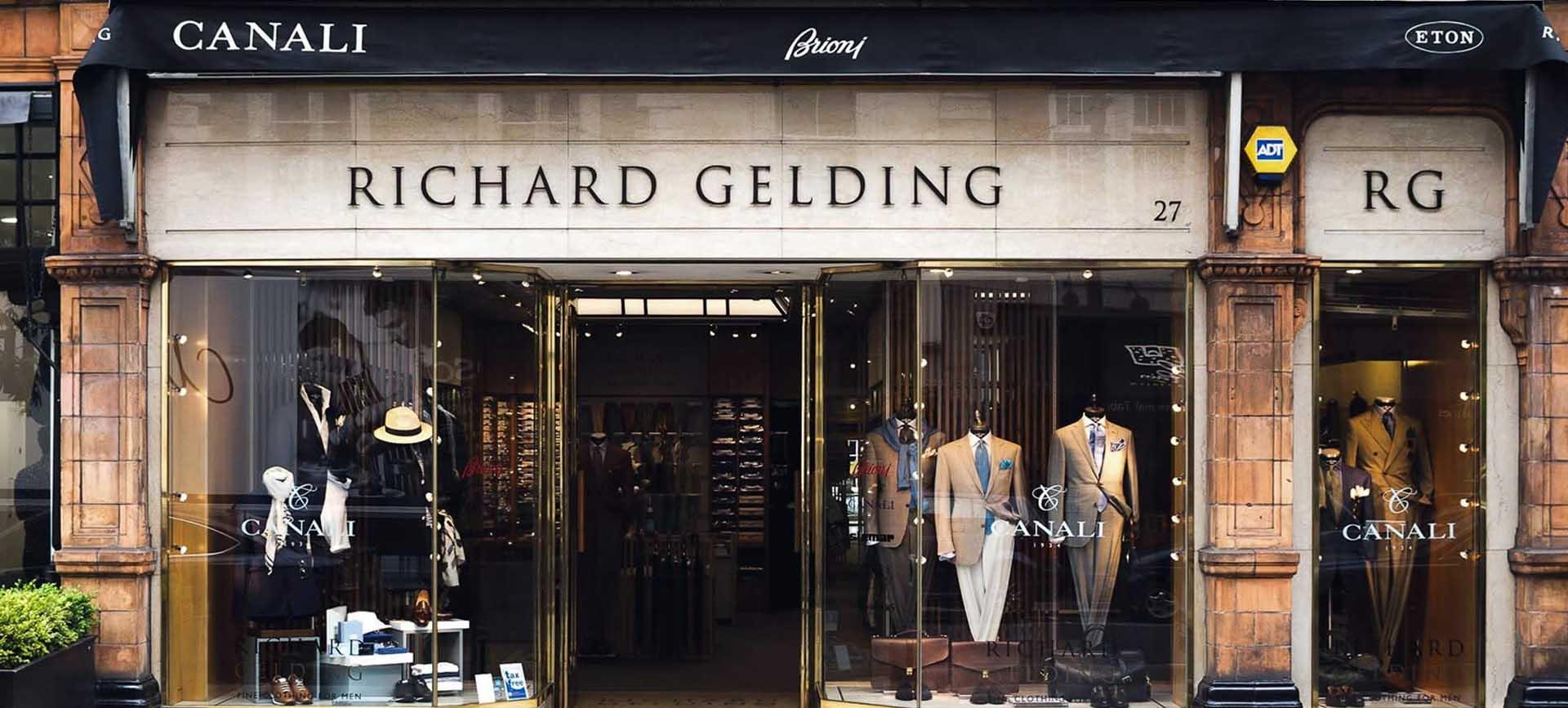 Richard Gelding Menswear in Mayfair