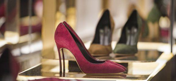 Fancy footwear in London's Mayfair