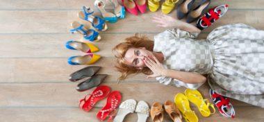 Glamorous ladies' footwear at Gina Shoes, Old Bond Street London W1