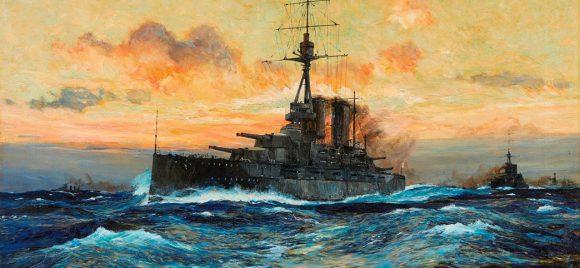 HMS oil canvas