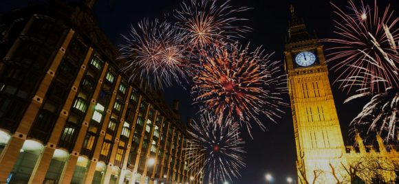 New year celebrations in Mayfair